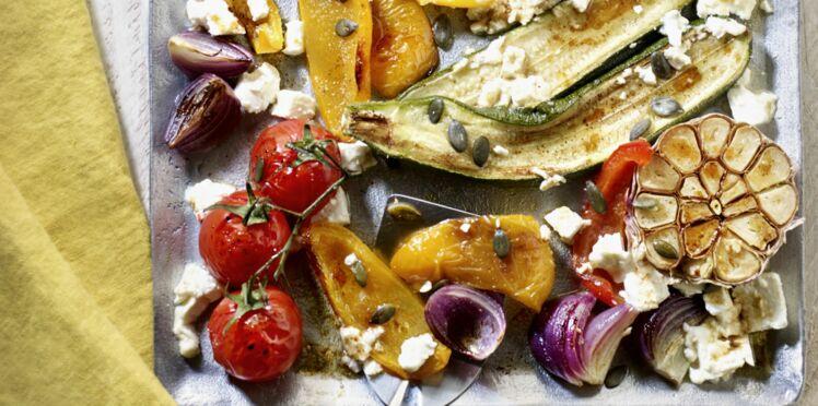 Légumes rôtis à la plaque