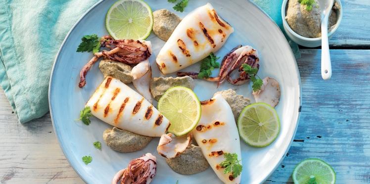 Calamars au caviar du Sud