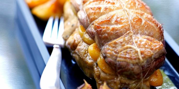 Rôti de magrets aux abricots secs