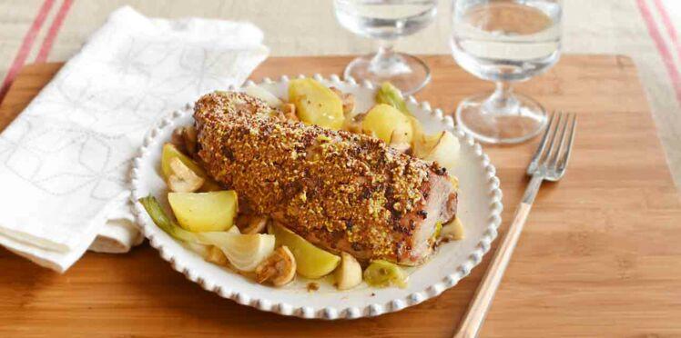 Filet mignon à la moutarde ancienne, pommes fondantes