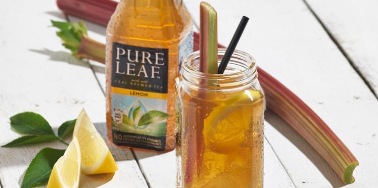Cocktail au thé glacé et à la liqueur