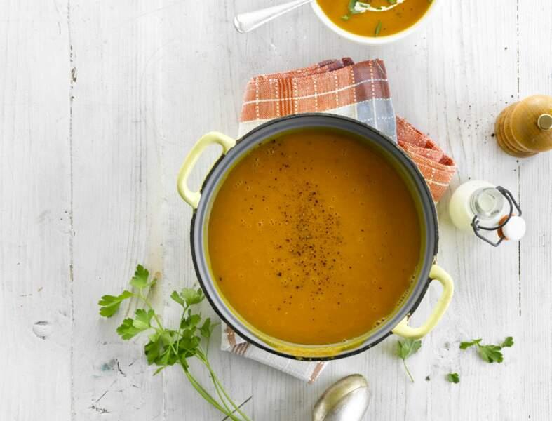 Soupe simple au potiron
