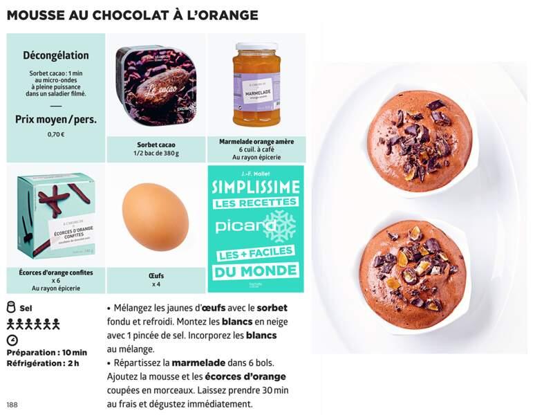 Mousse au chocolat à l'orange Simplissime & Picard