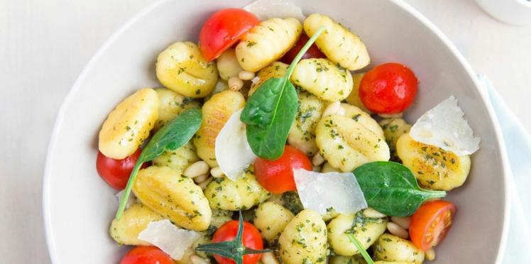Gnocchis au pesto et tomates cerise