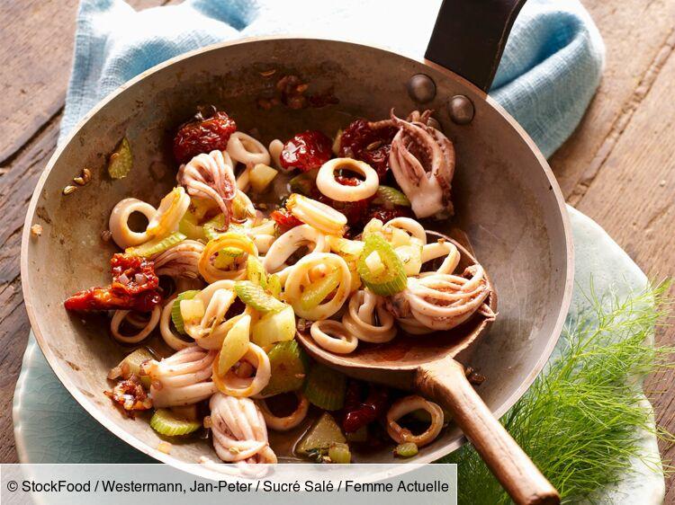 Poêlée de calamars aux légumes : découvrez les recettes de cuisine de Femme Actuelle Le MAG