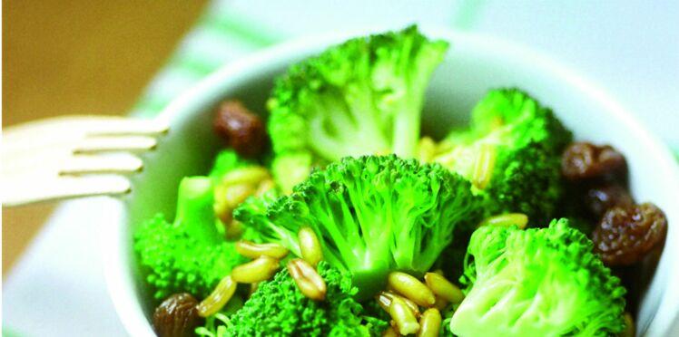 Salade de brocoli et kamut, sauce cerfeuil