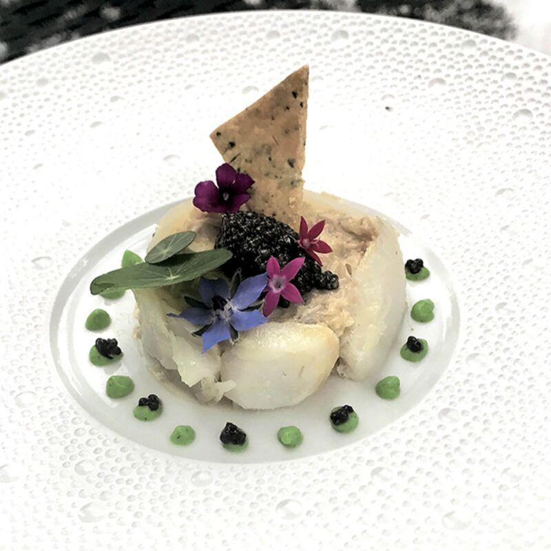 Fraîcheur de morue et tourteau au caviar