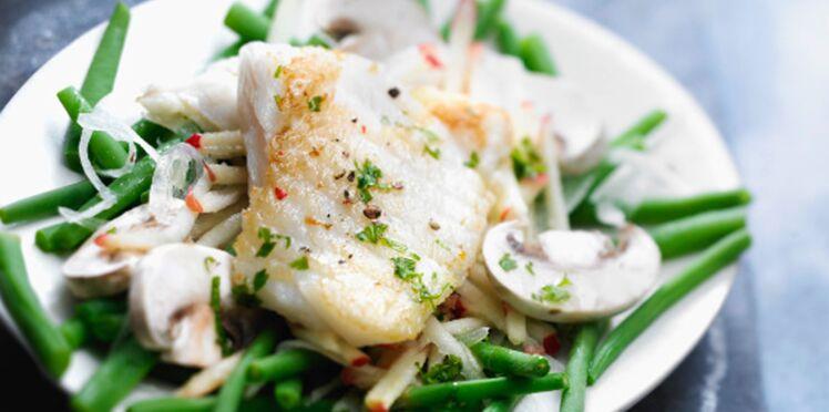 Salade croquante au flétan