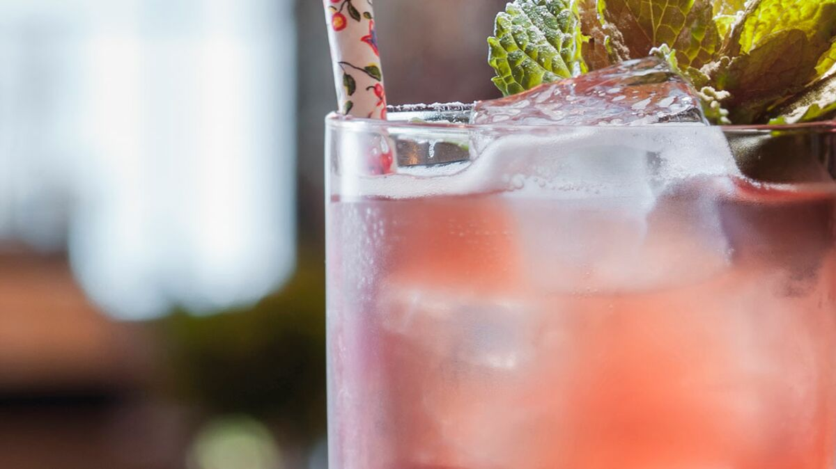 Cocktail sureau cherry Saint-Valentin