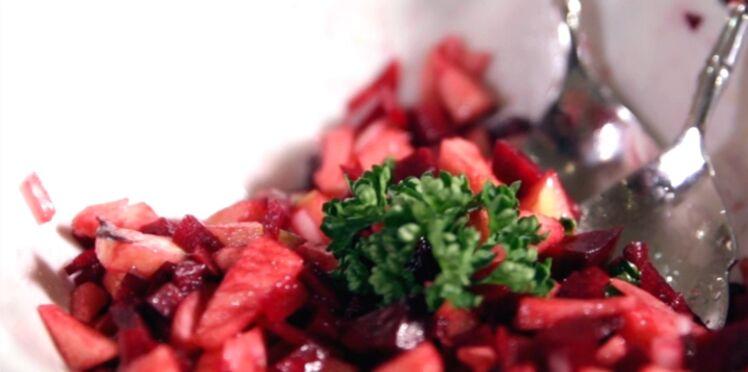 Salade détox pomme-betterave