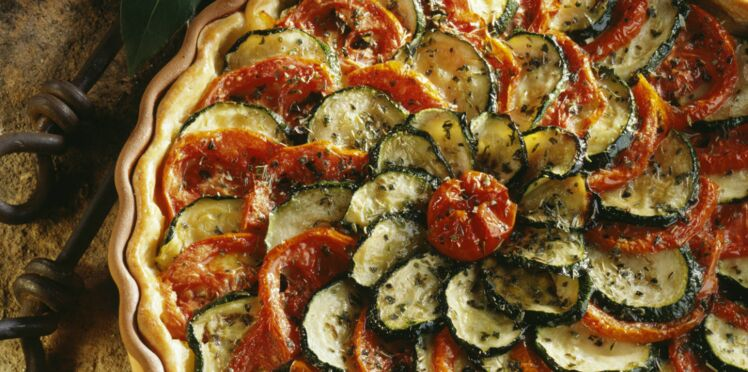 Tarte courgette et tomate