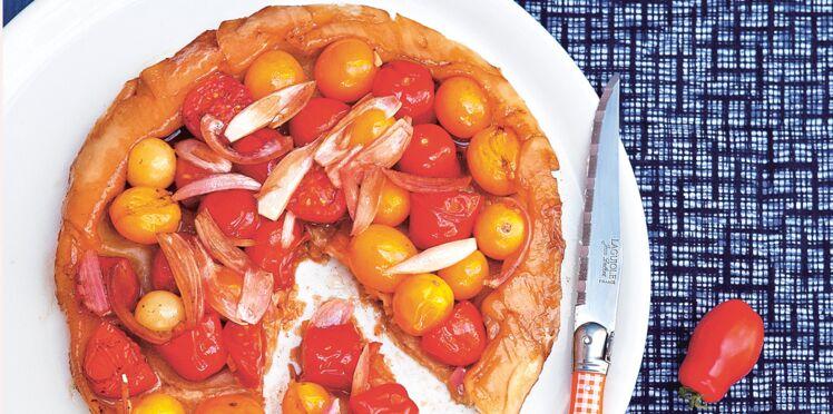 Tatin aux tomates cerises et vinaigre balsamique