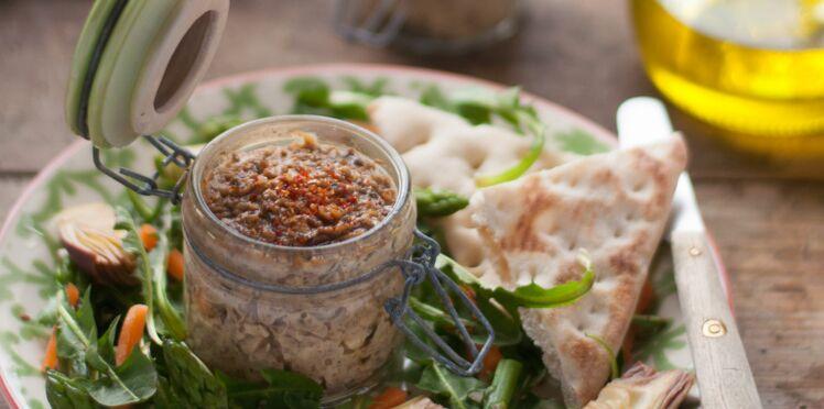 Terrine végétale à la noisette, échalote et champignons