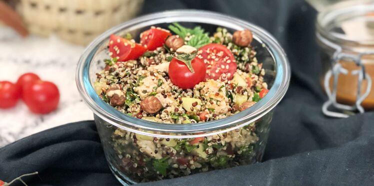 Taboulé herbes, noisettes et quinoa