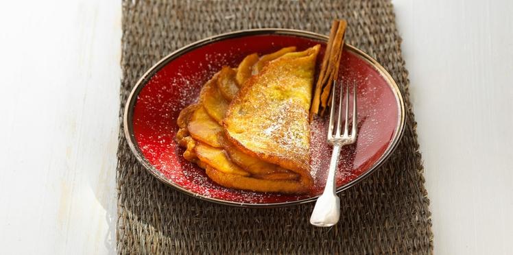 Omelette soufflée aux pêches