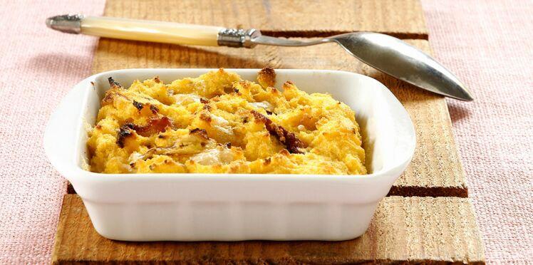 Polenta au fromage et aux légumes