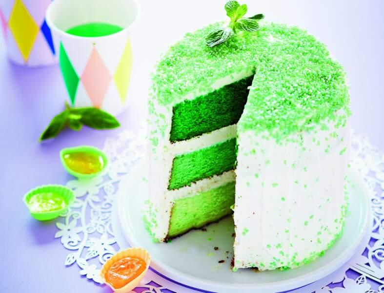 Layer cake à la menthe