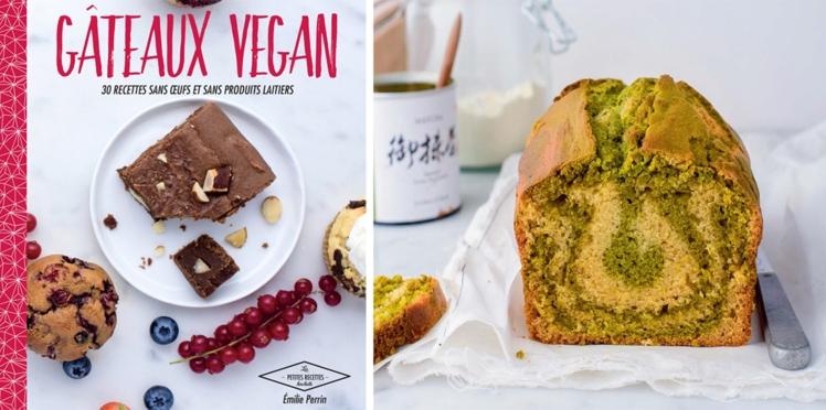 Marbré thé matcha et vanille vegan