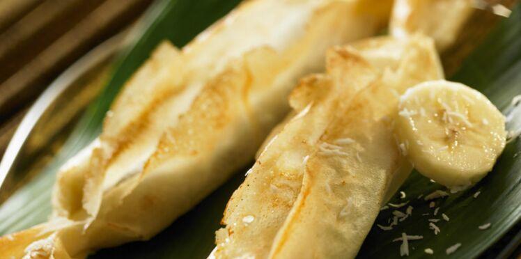 Papilote croustillante de banane au coco