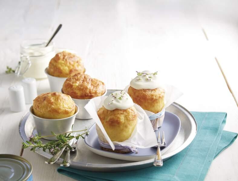 Cupcakes de ratte du Touquet à la mousse de crabe