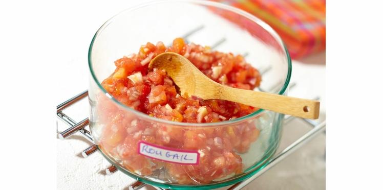 Rougail de tomates froid