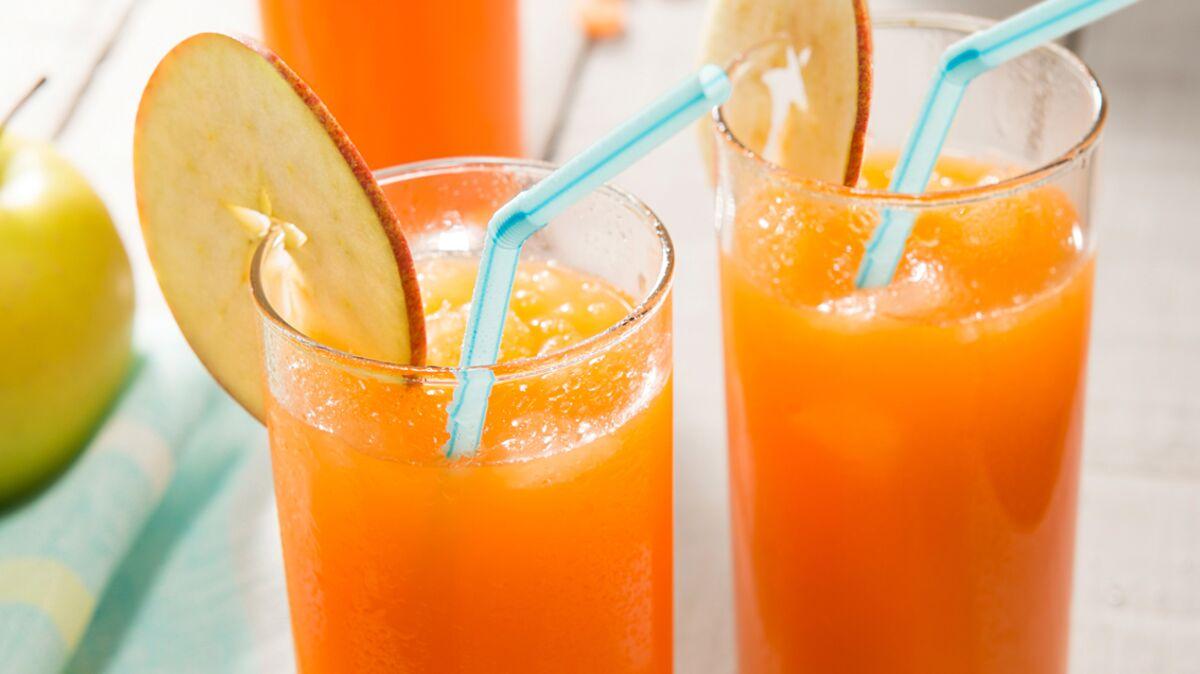 Cocktail bonne mine jus de carotte et pomme