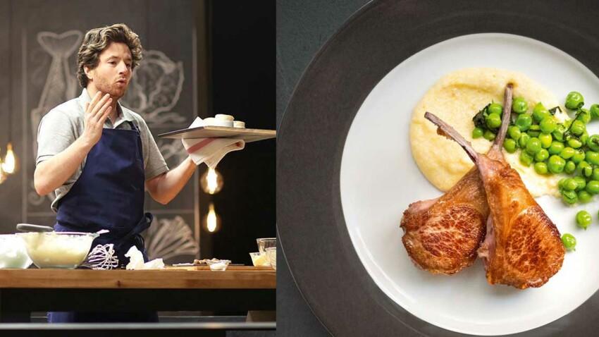 VIDEO – La recette des côtelettes d'agneau à la polenta de Jean Imbert en 14 minutes