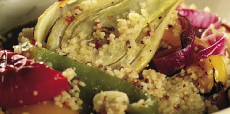 légumes grillés en salade