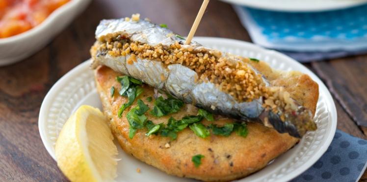 Sardines en filet farcies à la chermoula