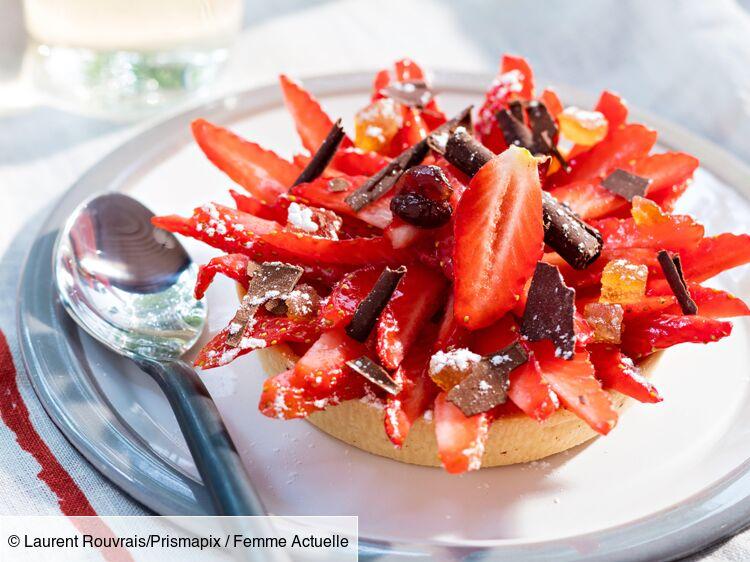 Tartelette soleil fraise chocolat : découvrez les recettes de cuisine de Femme Actuelle Le MAG