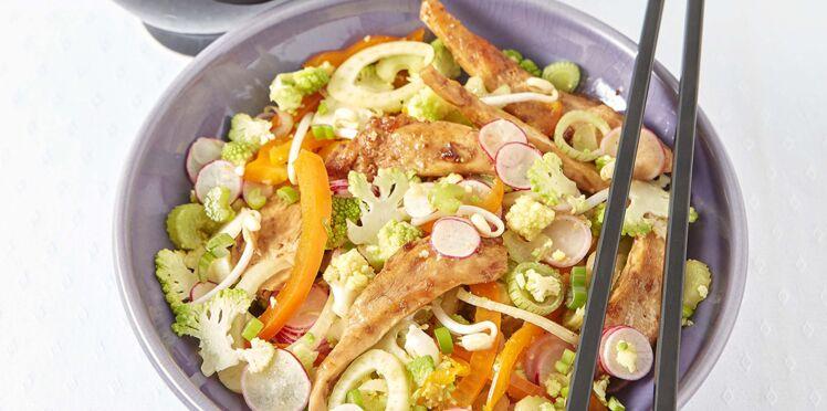 Wok de poulet au robot Cooking Chef Gourmet Kenwood