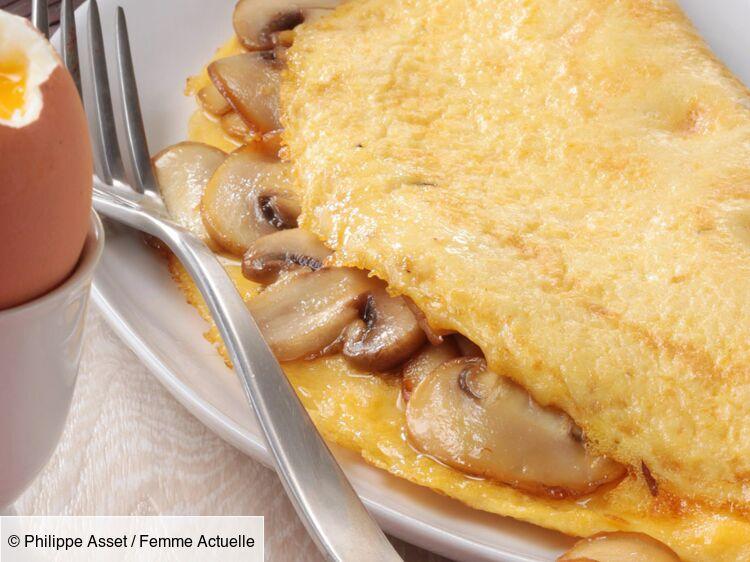 Omelette aux petits champignons de Paris : découvrez les recettes de cuisine de Femme Actuelle Le MAG