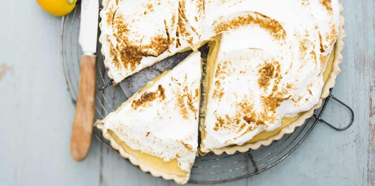 Tarte citron-tofu meringuée