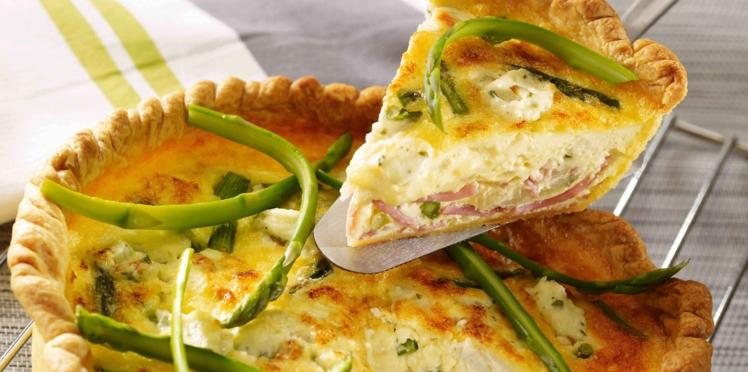Quiche jambon, asperges et fromage frais