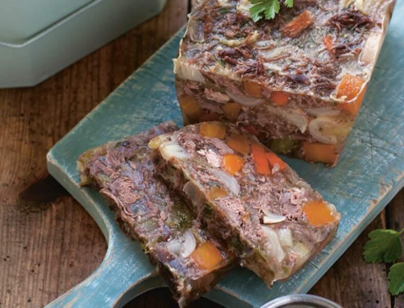 Aspic de bœuf aux légumes