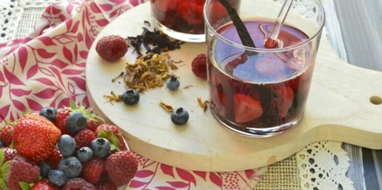 Soupe de fruits rouges au jus de goyave