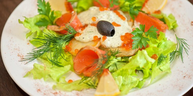 Poissons fumés en salade