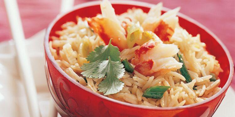 Riz thaï au crabe et à la coriandre