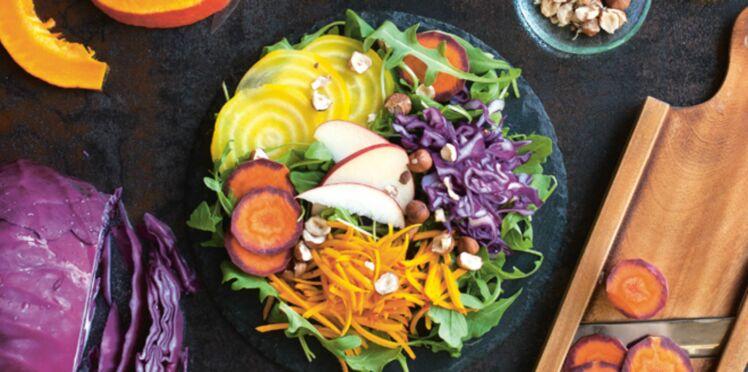 Salade d'automne au potimarron cru
