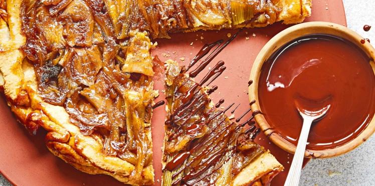 Tatin au fenouil confit, sauce chocolat de Maïtena Biraben