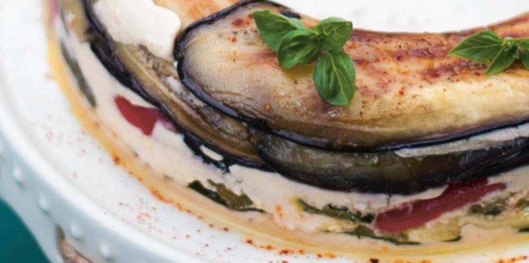Pressé de légumes grillés à la crème de pignons
