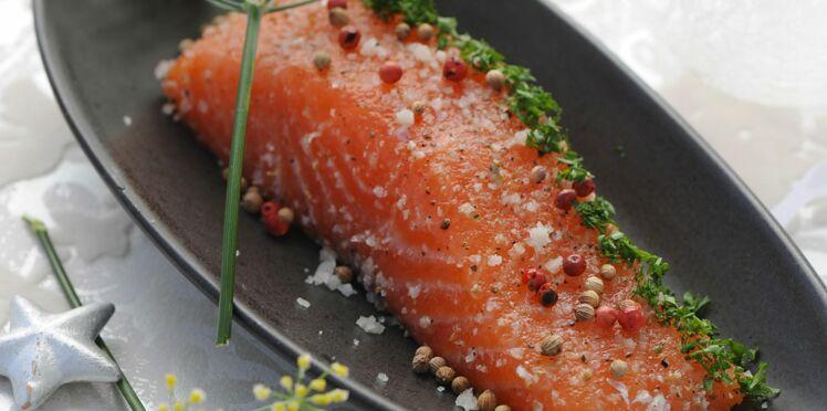 Saumon gravlax aux trois poivres