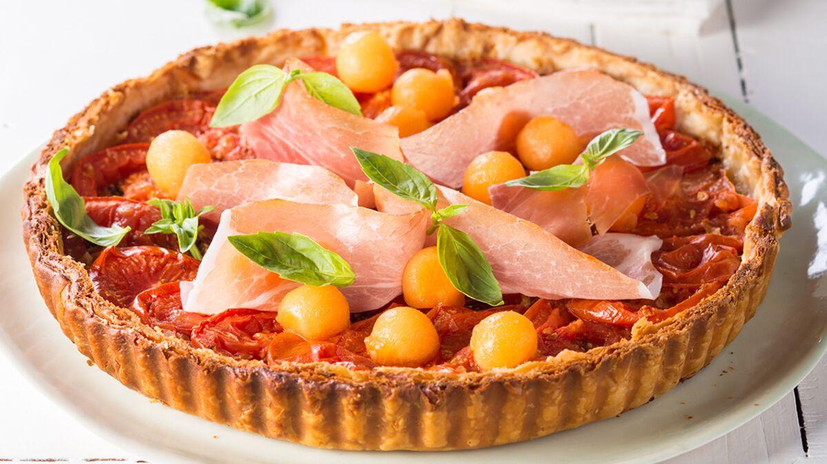 Tarte Fine A La Tomate Jambon Cru Melon Decouvrez Les Recettes