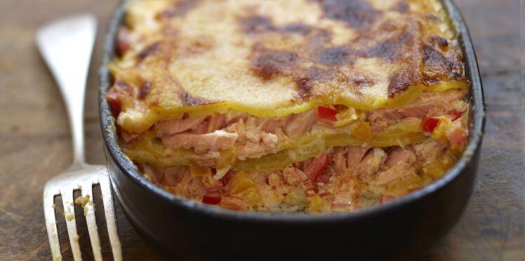 Recette lasagne saumon