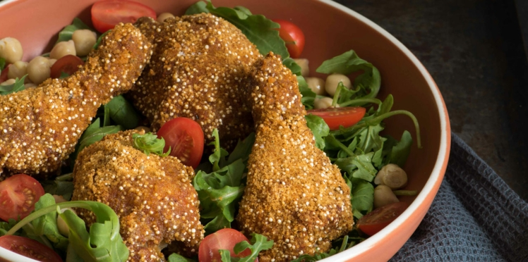 Poulet croustillant au quinoa