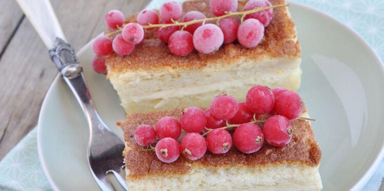 Gâteau magique au citron et lait d'avoine