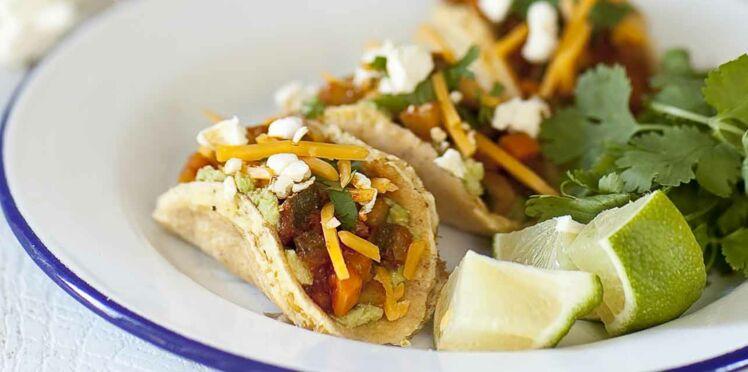 Mini tacos aux légumes et popcorn