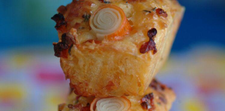 Cake au surimi, tomates confites et poivrons grillés