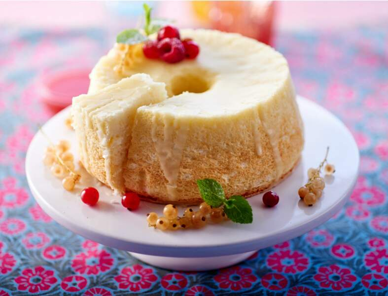 Angel food cake aux fruits rouges