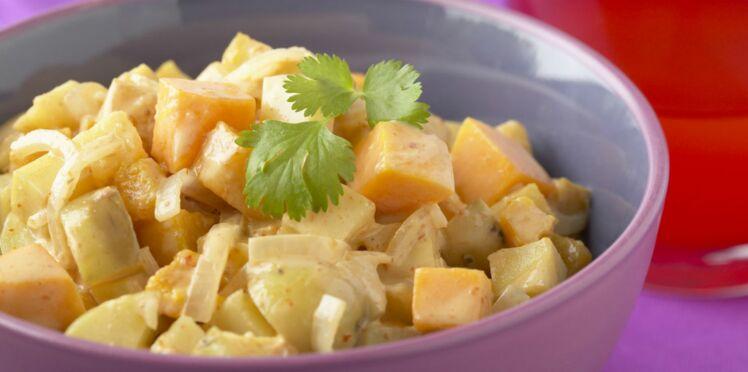 Curry de pommes de terre à la Thaï